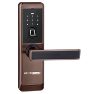 Fingerprint Lock with password & Key - Rose Brass Finish