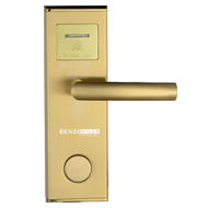 RF Card Hotel Lock - right - PVD Gold Finish