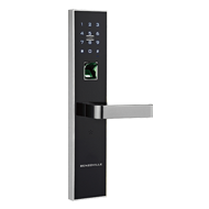 Fingerprint Door Lock - Black with Silver Finish