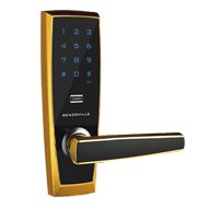 Code Door Lock - Intelligent Password Lock - Black with Gold Finish