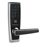 Code Door Lock - Intelligent Password Lock - Black with Chrome Finish