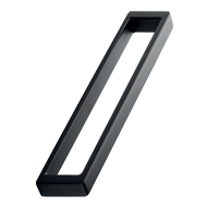 CUBICO Cabinet Handle - 192mm -  Zamak Black Finish