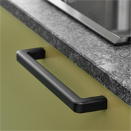 MANGO Cabinet Handle - 160mm - Zamak Black Finish