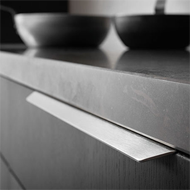 BLAZE 2 Cabinet Handle - 350mm - Aluminium Inox Look Finish