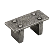 Cabinet Knob - Matt Old Iron Finish - KNOB BENCH DS - 32mm