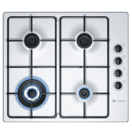 Gas Hobs with Integrated Controls - 60 cm - 4 Burner - Stainless Steel Finish