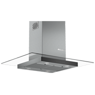 Island Glass Hood - 90 cm - Stainless s