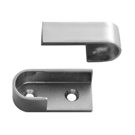 Oval Pipe Bracket - Chrome Plated Finis