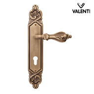 NAFIR Door Lever Handle on Plate - Bron