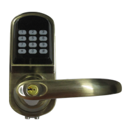 Electronic Code Door Lock in Antique Br