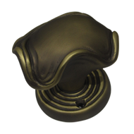 Turnable Knob with rose Yale hole - Satin Bronze Matt Finish - Right