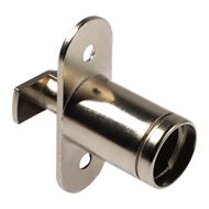 Push Turn Lock Housing - Right - Nickel plated Finish