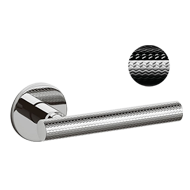 ATENA RANK Door Handle - Brass - Chrome