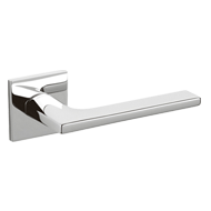 LOTUS Q Door Handle - Brass - Chrome Fi