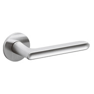 LUCY Door Handle - Brass - Matt Chrome