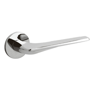 TWIST Door Handle - Brass - Chrome Fini