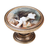 Gorgeous Woman Antique Cabinet Knob