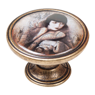 Woman Design Antique Knob