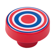 Cabinet Knob with Red - Blue Circles