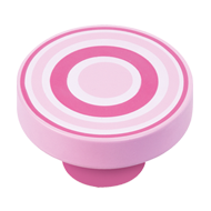Cabinet Knob with Pink - Magenta Circles