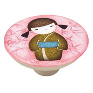 Cute China Girl Cabinet Knob