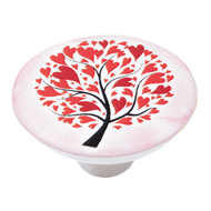 Beautiful Red Tree Cabinet Knob