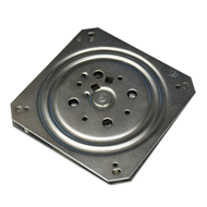 Revolving Plate with Return Spring - Zinc Plated Material