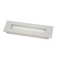 Flush Cabinet Handle - 6 Inch - White Colour