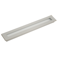 Flush Cabinet Handle - 18 Inch - White