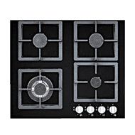 Built-in Glass Hob with four
