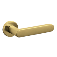 LINK Door Handle - Brass Super gold Sat