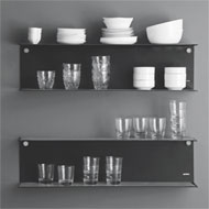 Large Wall mounted shelf - Black - 900X