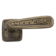 Brass Door Handle - (LR) - AB Finish