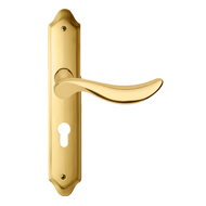 NORMA Door Lever Handle on Plate in Pol