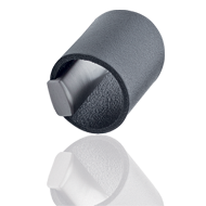 DRUM Leather Cabinet Knob - Grey Colour