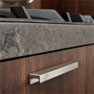 STATION Cabinet Handle - CC 160mm - Inox Look Finish