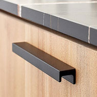 STATION Cabinet Handle - CC 160mm - Brushed Matt Black Finish