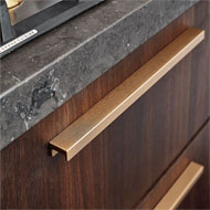 Kitchen Profile Handle in Brushed Brass