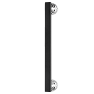 Era Door Pull Handle - Matt Black - Chrome Finish - 300mm