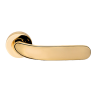 Point Door Lever Handle on rose - Gold