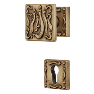 Frida Door Knob on rose - Turnable knob- Patine Matt Finish - 63mm