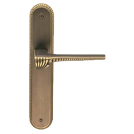 CHORA Door Lever Handle on Plate in Matt Bronze Finish