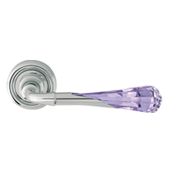 Door mortise handle on rose - chrome finish - Linea Cali - Gemma