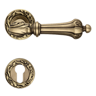 Door Mortise handle on rose - Crystal P