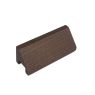 Wooden Cabinet Knob - 2 Inch - Walnut wood Finish