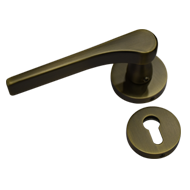 Door Mortise Handle on rose - Matt Anti