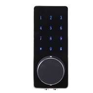 Touch screen smart password door lock - Black Colour with Silver Finish