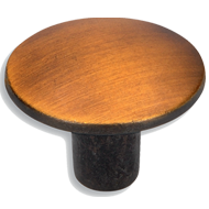 Cabinet Knob - 30mm - Black Brass Brush