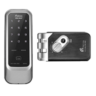 Digital Door Lock - Black with Silver Finish