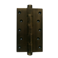 Brass Door Hinge - Antique Finish - 100X75X4mm